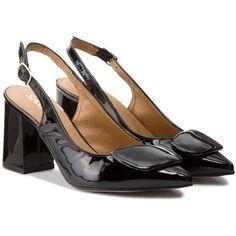 Sandále SAGAN - 3192 Czarny Lakier
