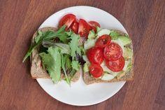 Spicy Sprouted Grain Veggie Sandwich  www.LauraLondonFitness.com