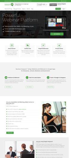 WordPress site business-hangouts.com uses the The7 theme wordpress