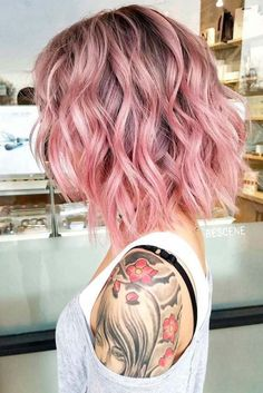 10 tintes para un corte tipo bob que amarás Spring Hairstyles, Unique Hairstyles, Wavy Hairstyles, Beach Hairstyles, Wedding Hairstyles, Men's Hairstyle, Formal Hairstyles, Hairstyle Ideas, Hair Color Pink