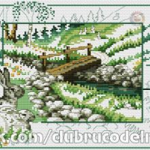 Gallery.ru / Все альбомы пользователя denise10 Cross Stitch Flowers, Cross Stitch Patterns, Outdoor, Throw Pillows, Scenery, Projects, Outdoors, Cross Stitch Designs, The Great Outdoors