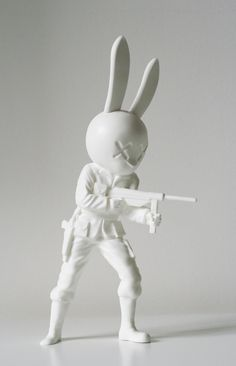 Rabbit Art-toy by M△TTO, via Behance