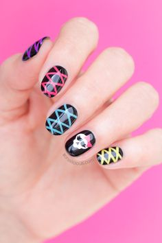 Cute Halloween Nails. Plus How-To