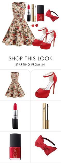 """""""Outfit #1169"""" by ivanna1920 ❤ liked on Polyvore featuring MAC Cosmetics, Dolce&Gabbana, NARS Cosmetics, Chicnova Fashion and Lily Charmed"""