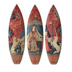 Renaissance Kunst auf Surfbrettern