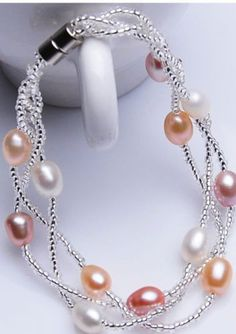 Fine-7-8mm-color-Akoya-Cultured-Pearl-Necklace-Bracelet