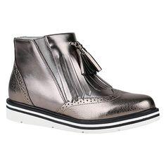 Damen Chelsea Boots   Leicht Gefütterte Stiefeletten   Wedges Plateau Vorne   Keilabsatz Schuhe   Knöchelhohe Stiefel Profil   Flandell®: Amazon.de: Schuhe & Handtaschen