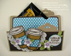 Something Yummy - Gift Card and Coffee Sachet Holder by BronJ - Cards and Paper Crafts at Splitcoaststampers By Bronwyn Eastley