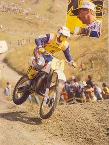 Motocross # vintage 80's # Hakan Carlqvist 08 # yamaha