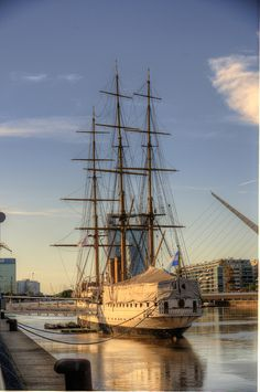 Clipper ship in Buenos Aires, Argentina via overyonderlust.com >>> i'd love to go to Buenos Aires and this ship looks incredible!