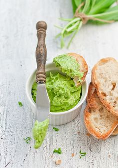 Photo about Wild garlic butter with bread. Image of forest, herb, garlic - 23328316 Carne Asada, Chutneys, Good Food, Yummy Food, Tasty, Wild Garlic, Garlic Butter, Special Recipes, Culinary Arts