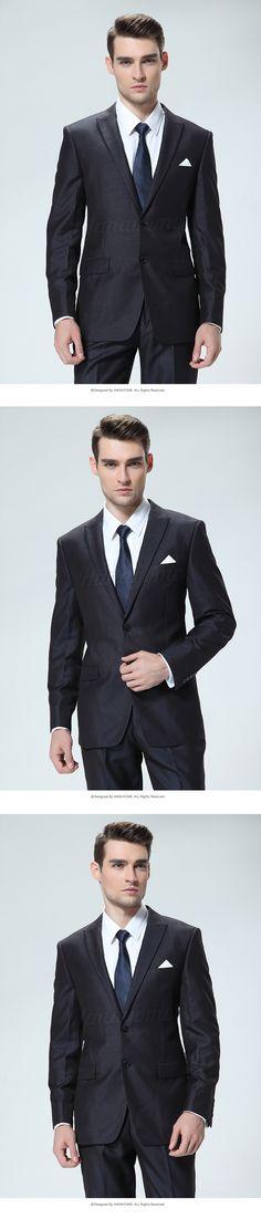 Tuxedo Tailcoatผู้ชายสองชิ้น2ปุ่มชายสีดำชุดทักซิโด้กางเกงแจ็คเก็ตเสื้อกางเกงบุรุษ3ชิ้นชุดสลิมฟิตD354 ใน  & จาก ชุด ที่ AliExpress.com