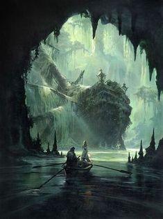 Long John Silver cover, by Mathieu Lauffray. Fantasy Artwork, Fantasy Concept Art, Landscape Concept, Fantasy Landscape, Landscape Art, Landscape Design, Fantasy Art Landscapes, Landscape Paintings, Fantasy Places