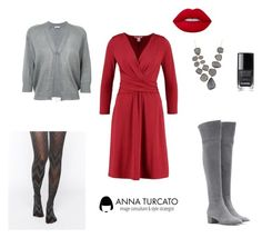 """""""The red dress"""" by annaturcato ❤ liked on Polyvore featuring Gianvito Rossi, Anna Field, Brunello Cucinelli, Gipsy, Marcia Moran and Chanel"""