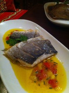 Seabass & sweet salsa - Tapas at Café Andaluz | House of Herby