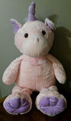 """34"""" Giant Plush FLOPPY PURPLE/PINK UNICORN PONY Large Cuddly Stuffed Animal NWOT #Kellytoy"""