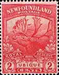 Newfoundland 1919 SG 131 1914-1918 Coningent Reindeer Fine Mint SG 131 Scott 116 Other Canadian Stamps here