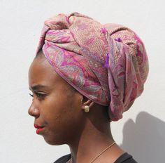 32719344bc0d Foulard Africain, Coiffure Afro, Foulards Tête Africains, Style Turban,  Coiffures Écharpe,