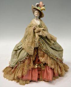 Antique Pin Cushion Lady / Dresser Doll