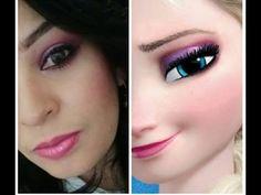 Tutorial maquiagem inspirada na Elsa de frozen - YouTube Youtube, Makeup, Blog, Make Up, Face Makeup, Blogging, Diy Makeup, Maquiagem, Youtubers