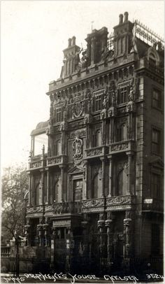 Dr. Phene's House - Chelsea, London, England.  Building began in 1901 and he was continuously building, tearing down, and rebuilding.  The house was never finished or lived in.  Dr.  Phene died in 1912 and by 1920 the house had been demolished.  Few pictures exist.