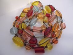 Vintage NESTING Beads of Bright Happy by MaisonettedeMadness, $30.00