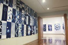 Walls- I like the effect .. Shibori exhibit, on Shiboricommunityorg.