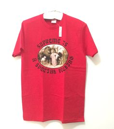 SUPREME SHIRT RED SIZE MEDIUM - SUPREME IS A SPECIAL FEELING £49.77