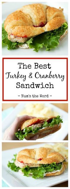Looking for The Best Turkey & Cranberry Sandwich?  Look no further!  Turkey, cranberry sauce and cream cheese create the base of this amazing sandwich.  Put it all on a croissant and you have the BEST sandwich ever.