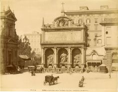 Italie, Roma, Fontana Acqua Felice Vintage albumen print Tirage albuminé 20x25 Circa 1875 Rome, Taj Mahal, Aqua, San, Antiques, Building, Travel, Vintage, Fotografia