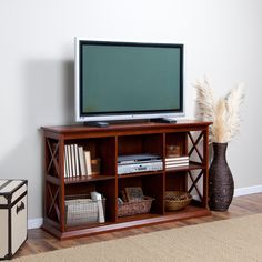 """Eagle Furniture 66"""" Low Profile Corner TV Stand Made in the USA"""