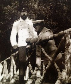 Nicholas & Prince Henry (Heinrich) of Prussia in Spala, 1901