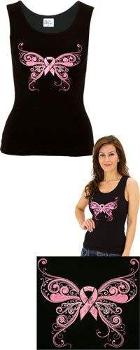 Pink Ribbon Butterfly Tank Top at The Animal Rescue Site $14.00