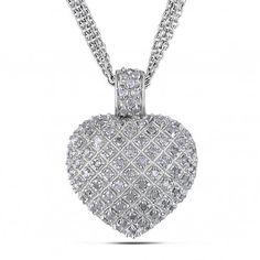 Sterling Silver 1 CT Diamond TW Necklace, I3, 18""