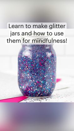 Art Activities For Kids, Sensory Activities, Crafts For Kids, Pinterest Diy Crafts, Glitter Jars, Art And Craft Design, Jar Gifts, Mason Jar Crafts, Arts And Crafts Supplies