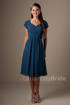 Modest Bridesmaid Dresses : Deborah