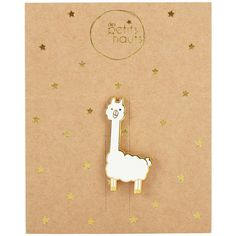 Des Petits Hauts Leugene Lama Pin, White (€13) ❤ liked on Polyvore featuring jewelry, brooches, pin brooch, des petits hauts, white jewelry, bear jewelry and animal brooch