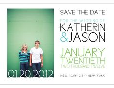 Cute Save the Date Card by MindyWindy on Etsy
