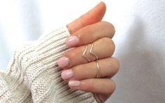 Knokkel Ring Ring Midi stapelen Ring set van 3 door DesignedByLei