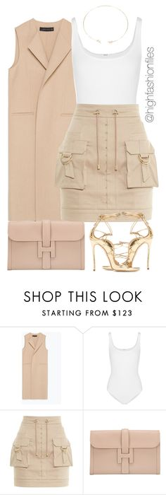 """""""Safari"""" by highfashionfiles ❤ liked on Polyvore featuring Zara, Wolford…"""