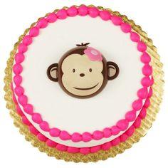Pink Mod Monkey Cake Topper