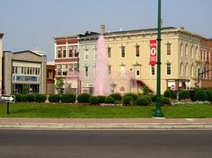 Troy, Ohio..I love Troy! Small town about 40 miles from Dayton. Fountain is dyed pink for the Troy Strawberry Festival.