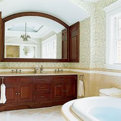Photo: Michael Luppino | thisoldhouse.com | from Editors' Picks: Our Favorite Wood-Tone Bathrooms