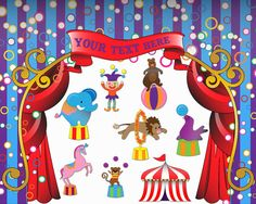 Circus Clip Art Clipart Carnival Clip Art Clipart  by PinkPueblo, $6.00