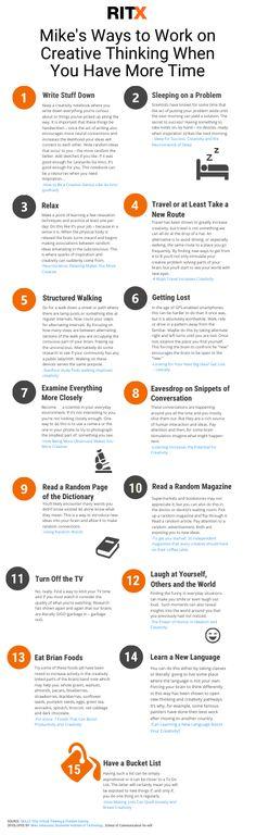 Ways to work on creative thinking