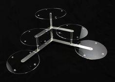 Aluminium acrylic plexiGlass tortenetagere présentoir à gâteaux de mariage à 3 étages-diamètre 30 cm 5 plaques de support: Amazon.fr: Cuisine & Maison