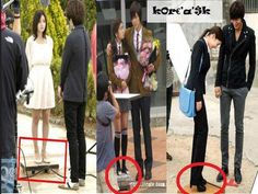 Haha, apparently the actresses needed platforms in 49 days, Playful Kiss, and City Hunter
