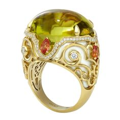 Rosamaria G frangini | High Antique Jewellery | Yellow Vintage Ring