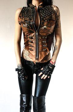 TOXIC VISION Hirax leather vest — Toxic Vision