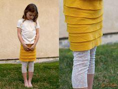 30 Minute Tutorial: Ruffle Knit Skirt